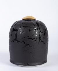 Xavier Duroselle - Porcelaine noir sur noir et or