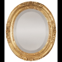 Miroir ovale d'époque Louis XIV