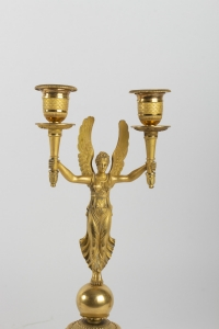 A Pair of Empire period (1804 - 1815) candelsticks.