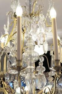 Lustre cage à  12 lumières fin 19e siècle