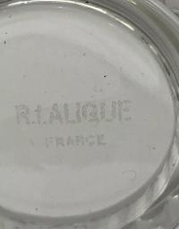 """Suite de Huit 8 Verres à Orangeade """"Bambou"""" verre blanc de René LALIQUE"""