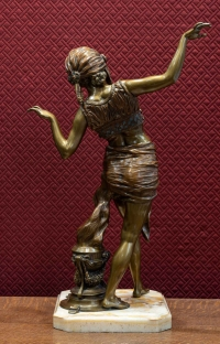 FATORI - Danseuse orientale  en bronze époque début XXè vers 1920