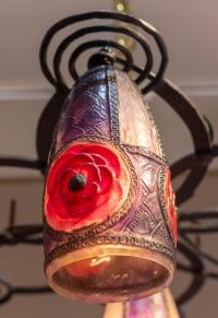 Lustre Suspension « Sept Rosaces » de Gabriel ARGY-ROUSSEAU
