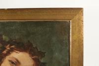 Elégante peinture du XIXème siècle représentant une femme romantique