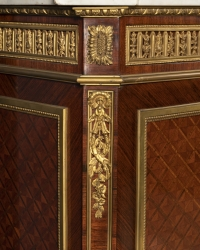 A Pair of French 19th Century Louis XVI St. Mahogany and Ormulu Mounted Meuble d'appui after Henry Dasson.