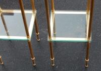 1970′ Paire de Sellettes Maison Baguès, 25 X 25 cm