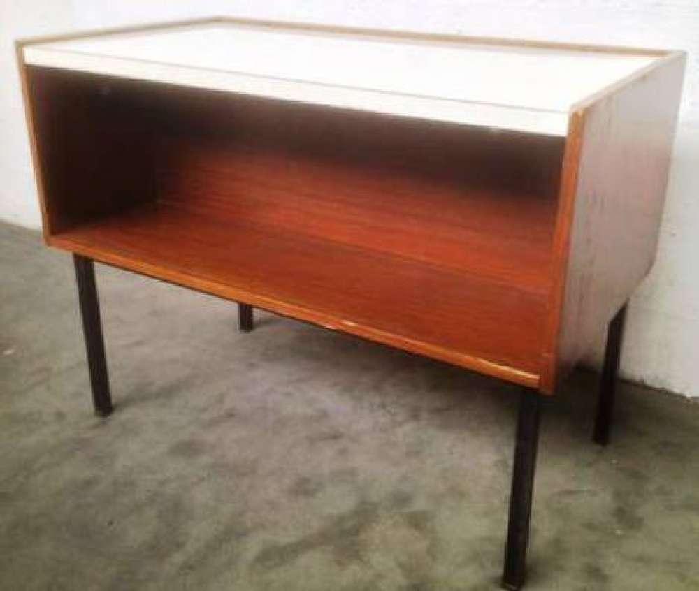le march biron petit bureau caisson r tractable en placage d 39 acajou 1960 39 s. Black Bedroom Furniture Sets. Home Design Ideas