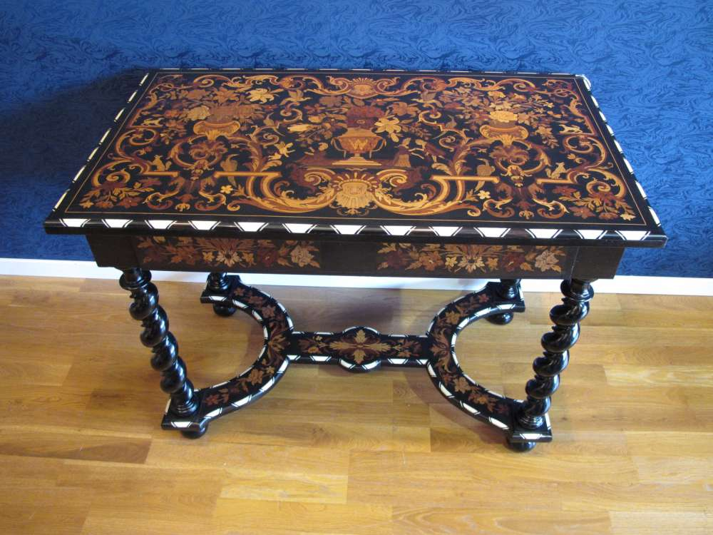 A Napoleon Iii Period 1848 1870 Marquetry Table In Louis Xiv Style