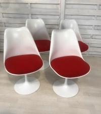 Eero Saarinen & Knoll - 4 chaises Tulipe