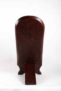 African Seat In Solid Wood, 20th Century
