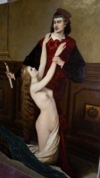 Peinture sur toile de Victor Von Schubert-Soldern. Ref:370.