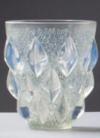 "Rene Lalique Opalescent ""Rampillon"" Vase"