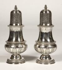 Pair of silver sprinklers sugar by CARDEILHAC early twentieth