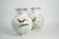 Théodore deck ( 1823 - 1851 ) - paire de vases en céramique, XIXème