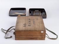 Ecritoire japonais (suzuri bako) de style Rimpa