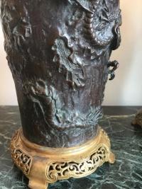 Paire de vases chinois en bronze, sur monture française. Réf: 248