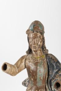 Sculpture polychrome Conquistador Espagne 18e siècle