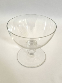 """Suite de Dix 10 Coupes à Champagne """"Tonnerre"""" verre blanc de René LALIQUE"""