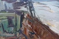 HERBO Fernand Peinture Française XXème siècle Vue de Normandie Honfleur et son port Huile sur toile signée