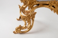 Important Firewall In Golden Bronze Of XIXth Century, Epoque Napoleon III, Large Decoration