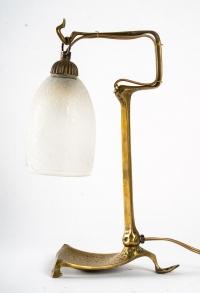 Lampe en bronze, 1900