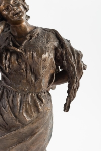 """""""La Cantatrice"""" bronze signé G Parente 19e siècle"""