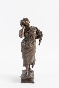 """""""La Cantatrice"""" bronze signé G Parente"""