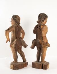 Paire d'anges XVIIIe siècle