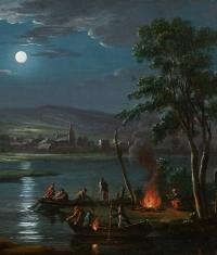 Pêcheurs au clair de lune – Suiveur de Simon Mathurin Lantara