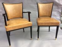 ensemble de 6 chaises par De Coene, Courtrai, 1940's