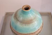 vase bleu turquoise en céramique art deco, Jean Besnard (1889 -1958)