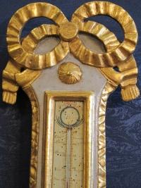 Baromètre - thermomètre d'époque Louis XVI (1774 - 1793).