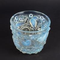 Vase « Avallon » verre opalescent patiné bleu de René LALIQUE