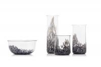 Suite de quatre pièces en verre « Neverrino » de Gae Aulenti (1927-2012)