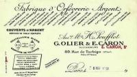 OLIER CARON :  Ménagère  en Argent Massif style Louis 16