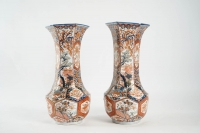 Paire de vases en porcelaine Imari - Japon XIXème