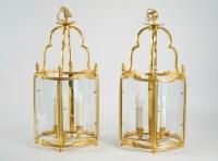 A Pair of Louis XV style lanterns.