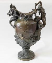 "HENRI LEON THIEBAULT (1855-1899) - Bronze ""La mer"""