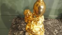 Paire de candélabres en bronze doré d'époque NapoléonIII