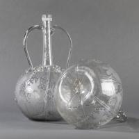 Paire de bouteilles hollandaises du XVIIIe siècle