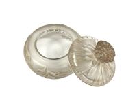 Boîte « Cheveux de Vénus » verre blanc patiné sépia de René LALIQUE