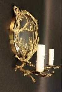 Rare Applique en bronze Doré modèle Corail de Chrystiane Charles Maison Charles 1970