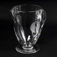 """Pichet Broc """"Obernai"""" verre blanc de René LALIQUE"""