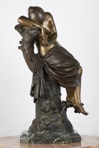 A French 19th century bronze «Le repos de venus » signed Lucas Madrassi (1849-1919).