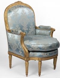 A 19th Century Louis XVI St. giltwood Bèrgere.