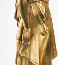 2 bronzes dorés, représentant Euterpe et Calliope