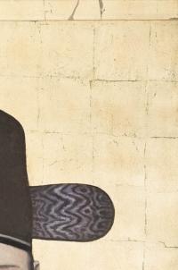 Toile peinte figurant un dignitaire chinois, travail contemporain