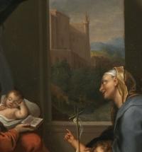 Madonna della Gatta – Ecole italienne du XVIIe siècle