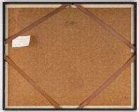 Aquarelle sur Papier de Luez, Paysage Africain, encadré sous verre, XXème siècle.