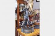 Goldscheider - Gladiateur Romain avec son Jaguar